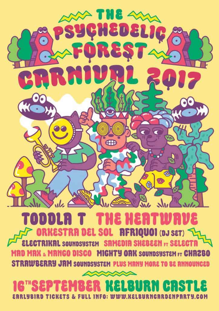 Psychedelic Forest Carnival 2017 - Flyer