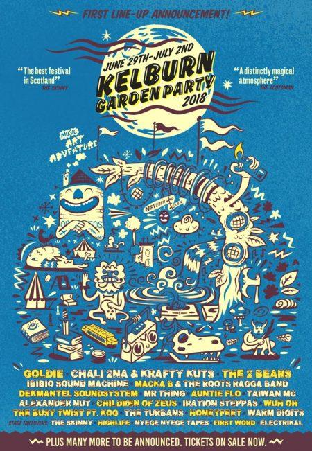 Kelburn Garden Party 2018 - first flyer