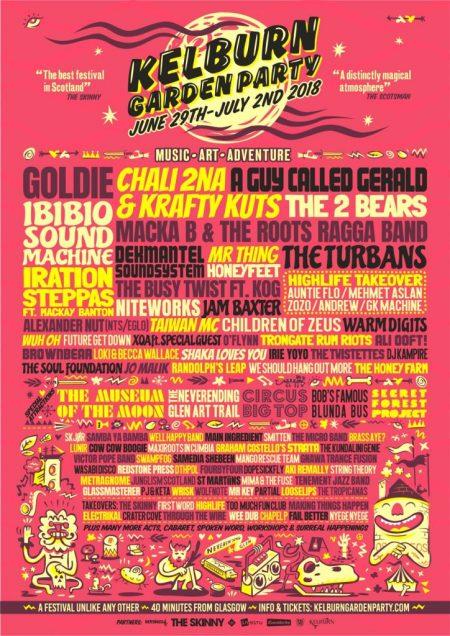 Kelburn Garden Party 2018 - Poster