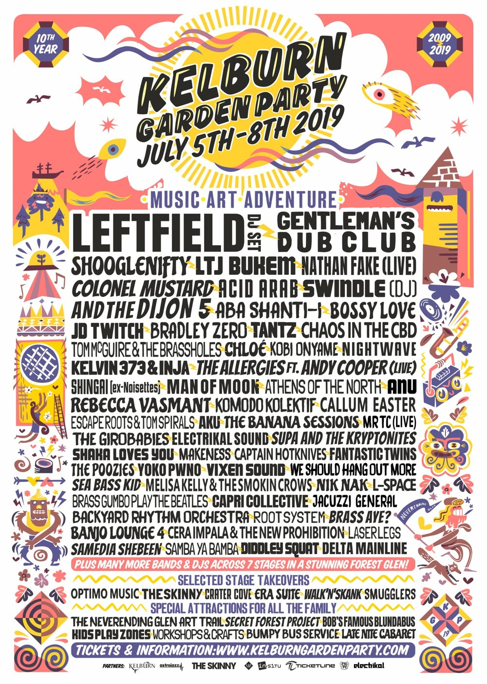 Kelburn Garden Party 2019 flyer
