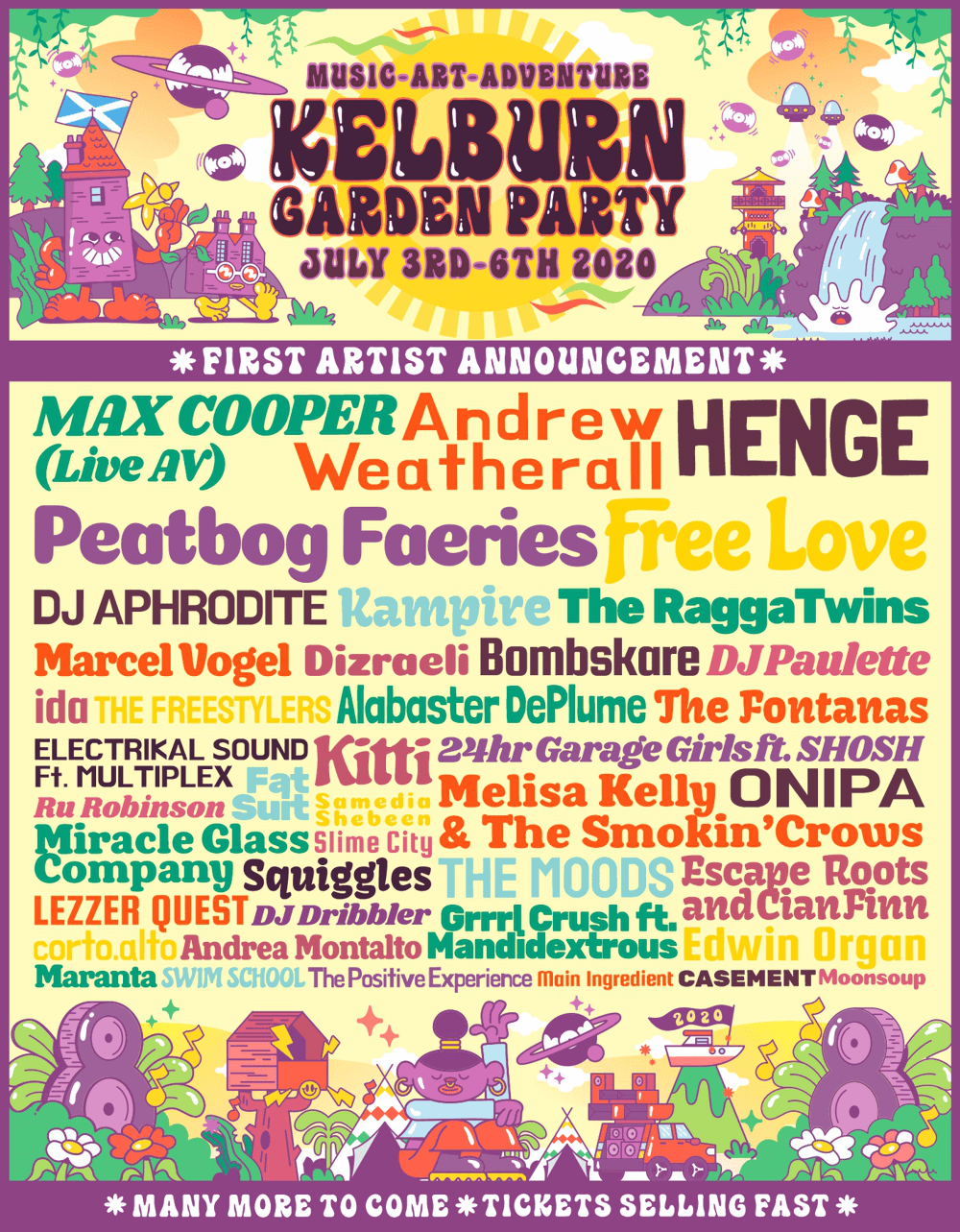 Kelburn Garden Party 2020 flyer